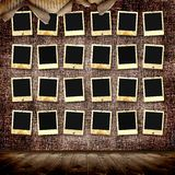 Vintage background. With frames for photos Stock Image