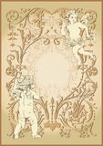 Vintage background. With two angels Stock Photo