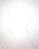 Vintage background. Vintage baroque background with beautiful flowers, leaves and swirls in pastel shades Stock Photos