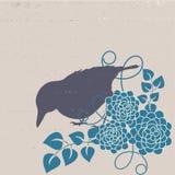 Vintage background. Vintage stylised f;ora and birds background Royalty Free Stock Image