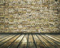 Vintage background. Old room with brick wall, vintage background Stock Photography