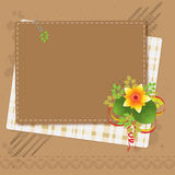Vintage background. With flower and copy space for text royalty free illustration