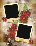 Vintage background. With frames for photos Royalty Free Stock Image