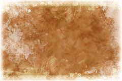 Vintage Background. Old-Paper Fashioned Vintage Background. Light Browny. White Grunge Corners with White Ink Splashes Stock Images