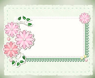 Vintage background. With flowers and lace Stock Image