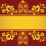 Vintage background. Vintage red golden background antique Royalty Free Stock Images