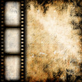 Vintage background. With film frame Stock Images