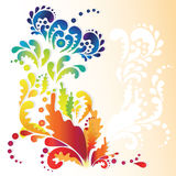 Vintage background. Abstract background with colorful flower Stock Photo