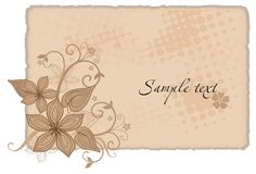 Vintage background. Vector drawing in vintage style Stock Photos