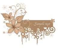 Vintage background. Vector drawing of card in vintage style Stock Image