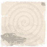Vintage Background. A vintage background, with a faded old car and polaroids vector illustration