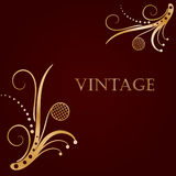 Vintage background with abstract  flower Stock Images