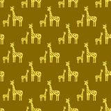 Vintage background on an African theme. Giraffes seamless pattern vector illustration