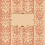 Vintage background, antique greeting card Stock Photography