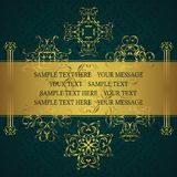 Vintage background with antique luxury gold decoration. And seamless wallpaper, template for your design vector illustration