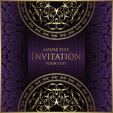 Vintage background with antique round pattern. Invitation card vector illustration