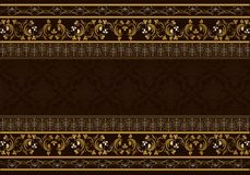 Vintage background antique victorian floral frame. Stock Images