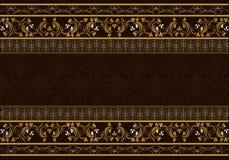 Vintage background antique victorian floral frame. Stock Images