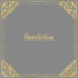 Vintage background. Antique, victorian gold ornament, baroque frame,template for design stock illustration