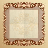Vintage Background with arabesque ornaments Stock Image
