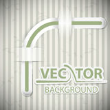 Vintage background with attritions and a ribbon. In vector design Vector Illustration