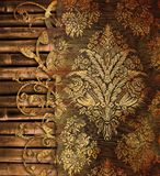 Vintage background with bamboo Royalty Free Stock Image