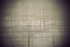 Vintage background with barbed wire Royalty Free Stock Images