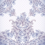 Vintage background, baroque pattern Royalty Free Stock Photos