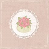Vintage background with flowers Royalty Free Stock Image