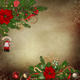 Vintage background with beautiful Christmas decorations Royalty Free Stock Photography