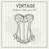 Vintage background with beautiful and original underwear Royalty Free Stock Photography