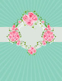 Vintage background with beautiful roses Stock Image