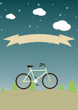 Vintage background with bicycle and place for your Royalty Free Stock Images