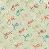 Vintage background with bicycles silhouettes Stock Photo