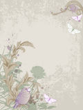 Vintage background with bird Royalty Free Stock Photo