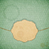 Vintage background - blue crumpled paper Royalty Free Stock Images