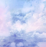 Vintage background in the blue shade with clouds Royalty Free Stock Photography