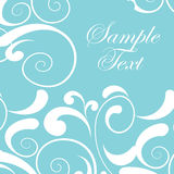 Vintage background, blue with white decor Royalty Free Stock Photography