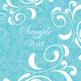 Vintage background, blue with white decor Stock Images