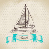 Vintage background with boat Stock Image