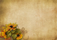 Vintage background with a bouquet Stock Photos