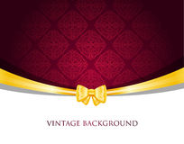 Vintage background with bow Royalty Free Stock Photo