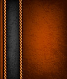 Vintage background with brown and black leather. Stock Photo