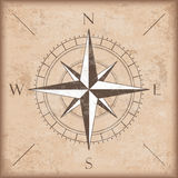 Vintage Background Brown Compass Stock Photo
