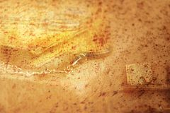 Vintage background. Brown sheet of paper. royalty free stock images