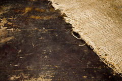 Vintage background with burlap Royalty Free Stock Images