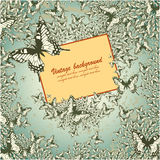 Vintage background with butterflies Royalty Free Stock Photography