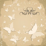 Vintage background with butterflies Royalty Free Stock Photos