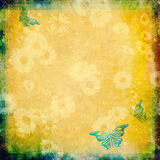 Vintage background with butterflies Stock Images