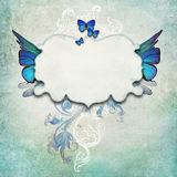 Vintage background with butterflies vector illustration